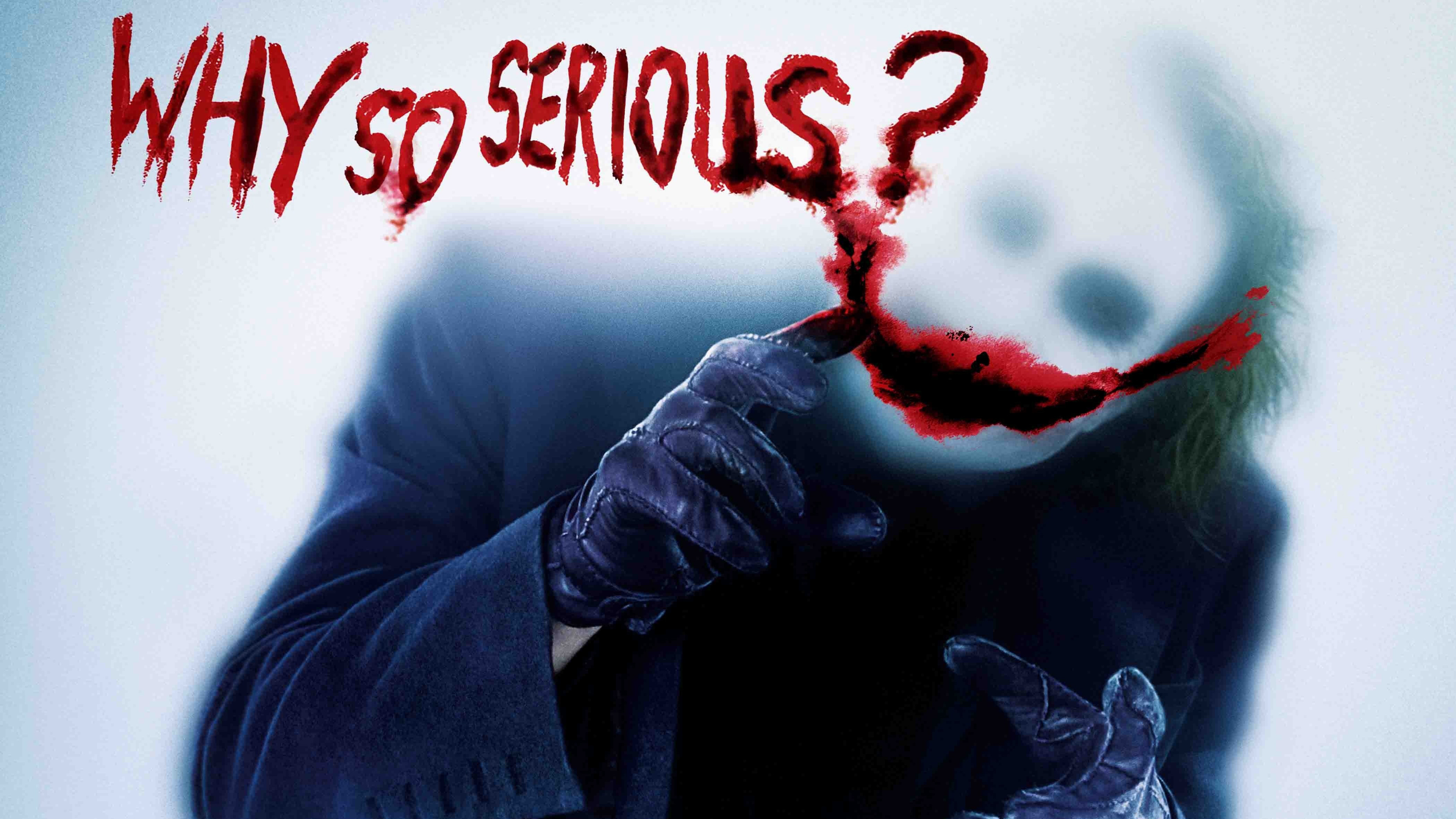 3840x2160 Joker Why So Serious 4k HD 4k Wallpapers, Images ...