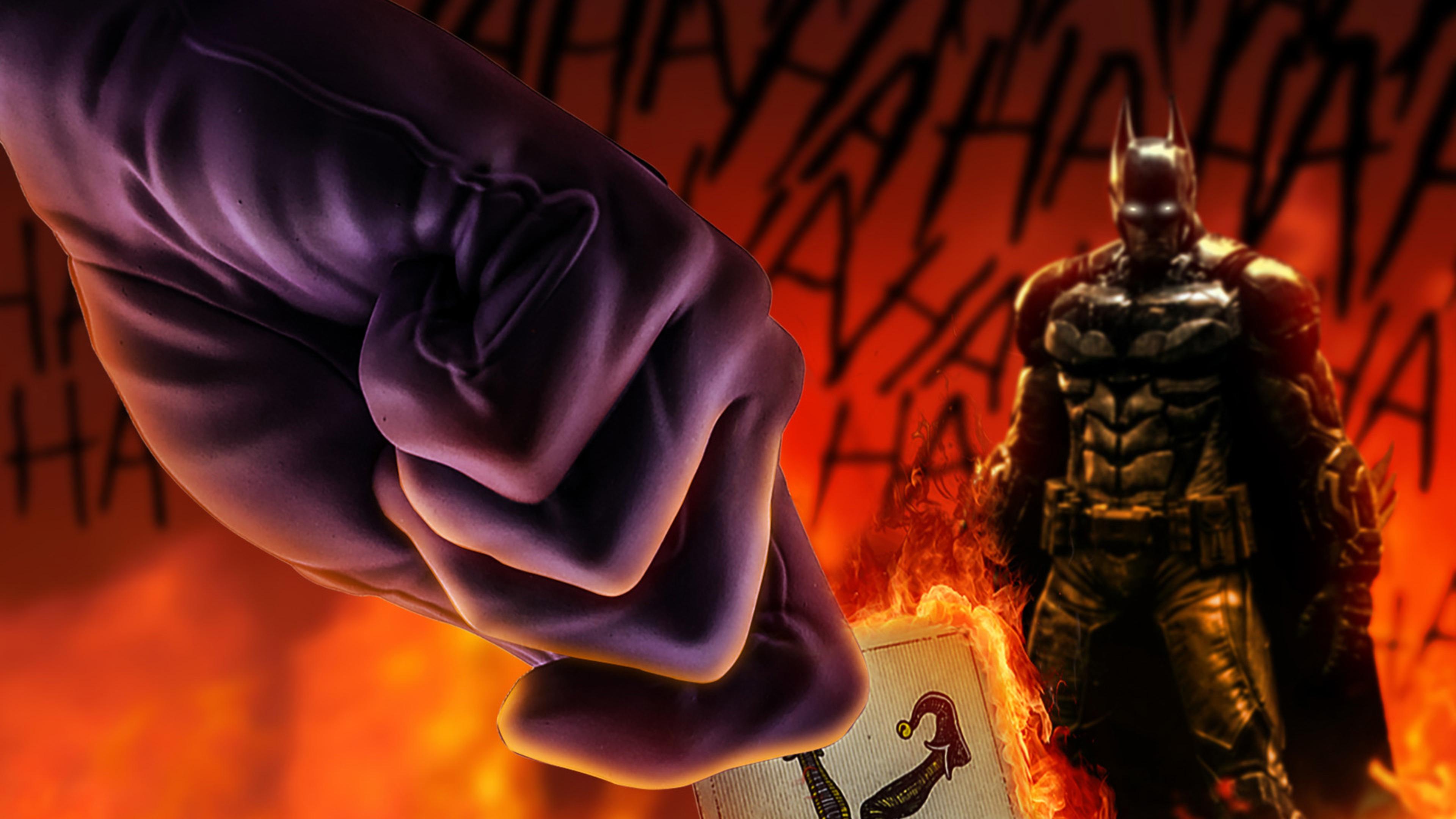 3840x2160 Joker With His Card Batman Art 4k HD 4k ...