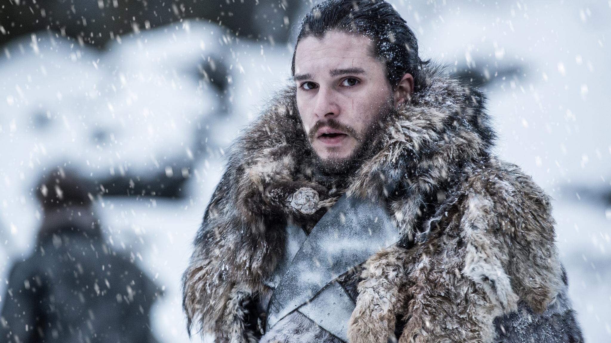 2048x1152 Jon Snow Beyond The Wall Game Of Thrones 4k 2048x1152