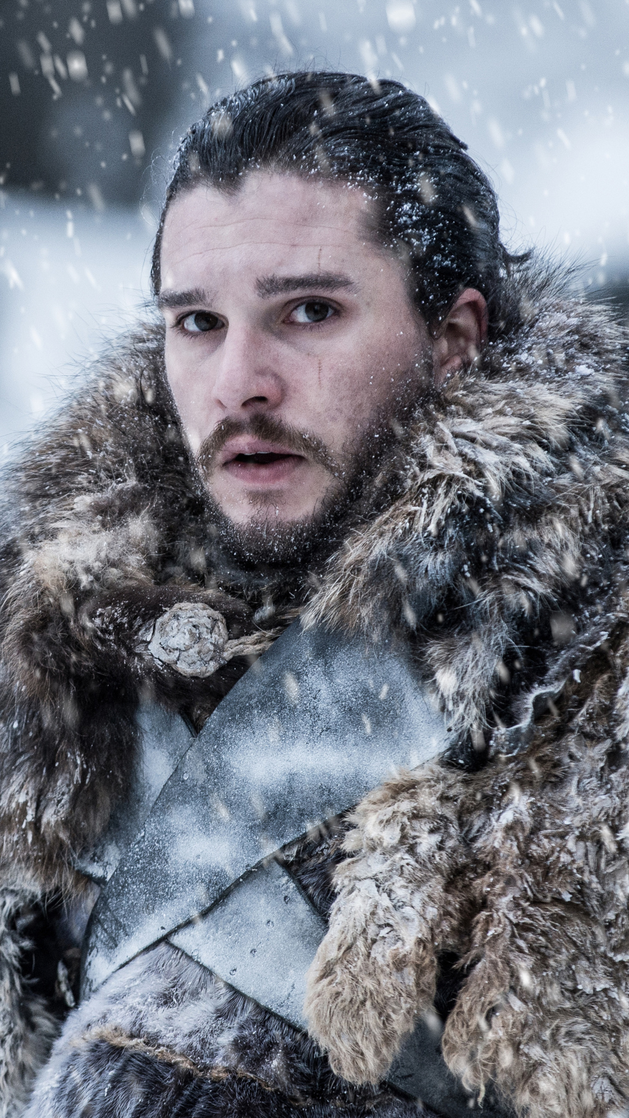 2160x3840 Jon Snow Beyond The Wall Game Of Thrones 4k Sony Xperia X