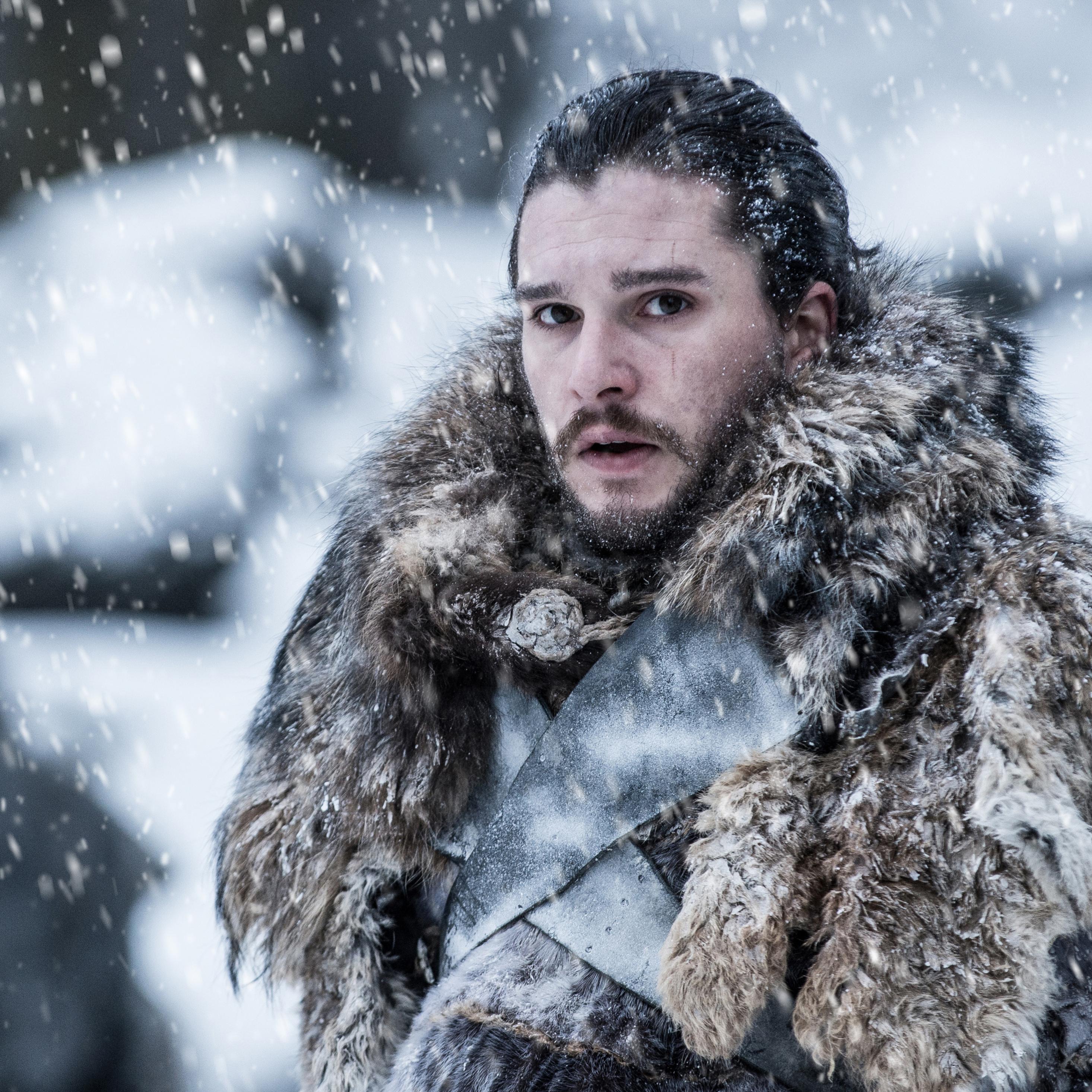 2932x2932 Jon Snow Beyond The Wall Game Of Thrones 4k Ipad Pro