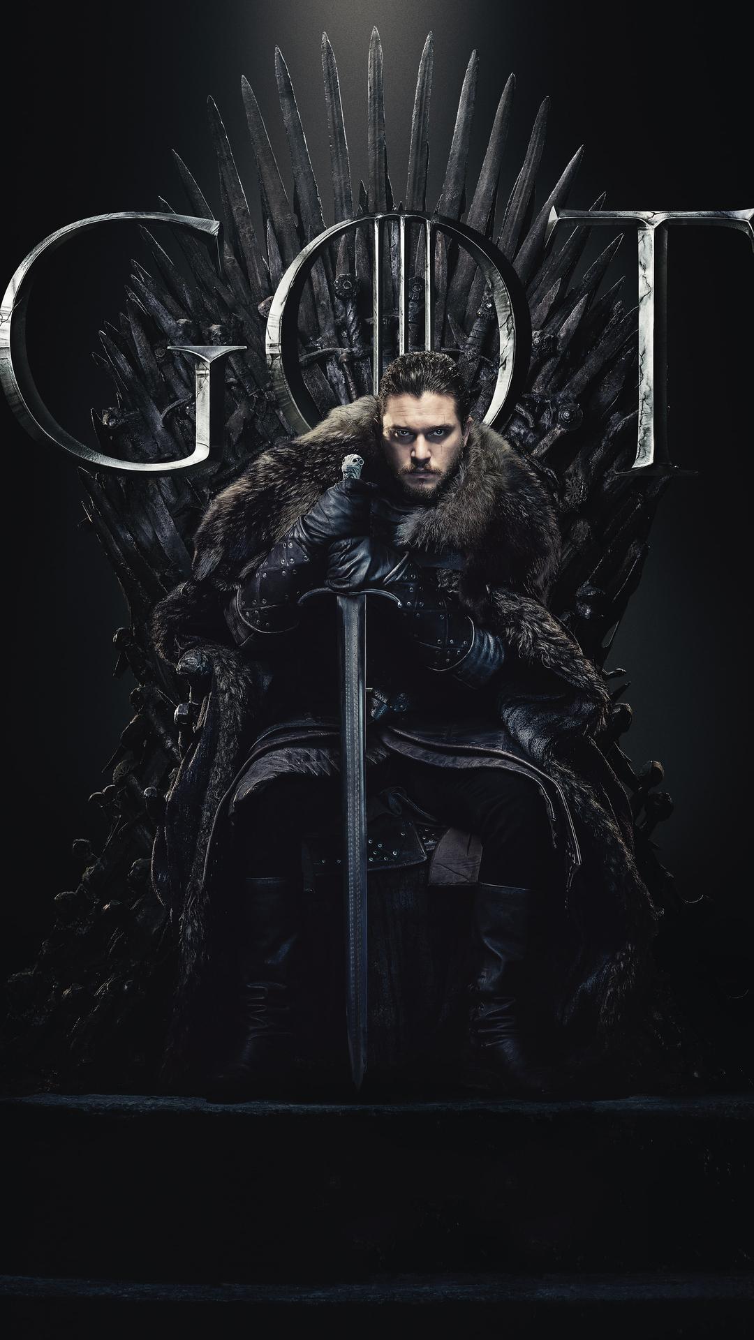 1080x1920 Jon Snow Game Of Thrones Season 8 Poster Iphone 76s6