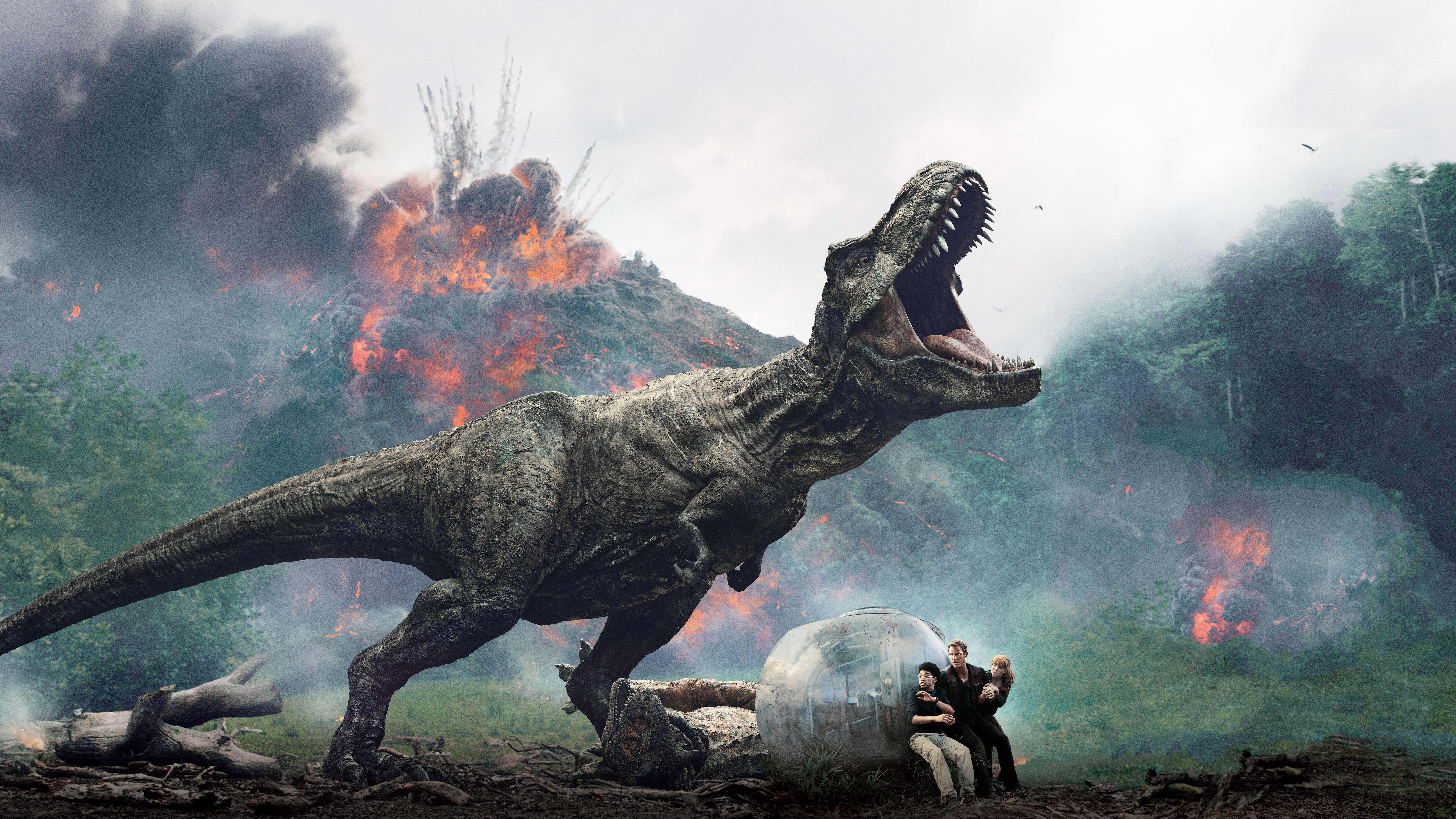 7680x4320 Jurassic World Fallen Kingdom 12k International Poster
