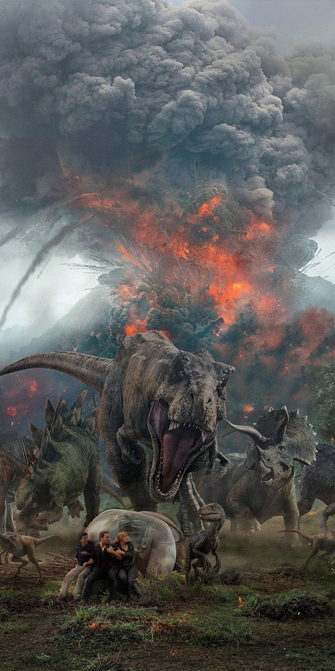 1080x2160 Jurassic World Fallen Kingdom Key Art One Plus ...
