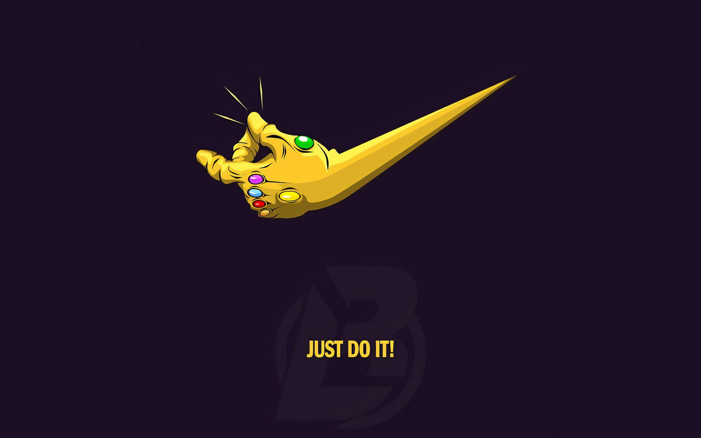 2880x1800 Just Do It Thanos 4k Macbook Pro Retina Hd 4k Wallpapers Images Backgrounds Photos And Pictures