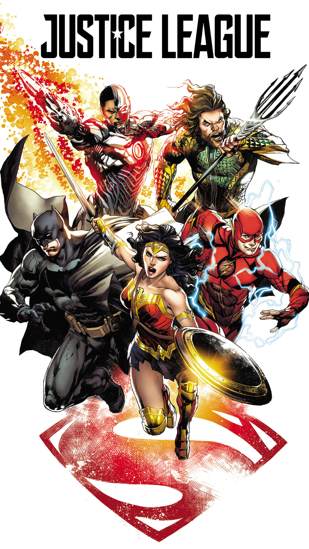 1080x1920 Justice League 2017 Comic Art Iphone 76s6 Plus Pixel Xl
