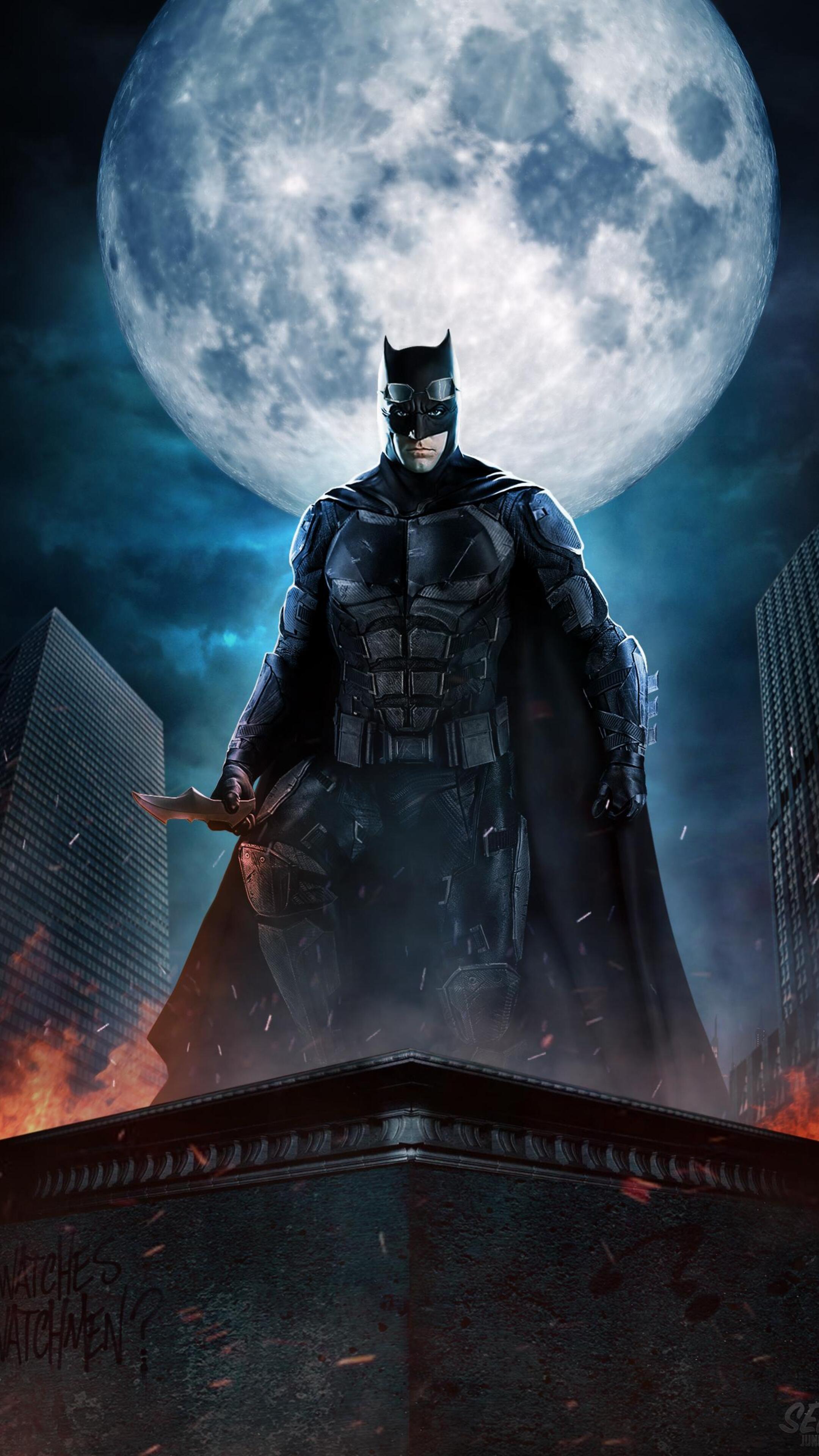 2160x3840 justice league batman the dark knight fan art - Art wallpaper 2160x3840 ...