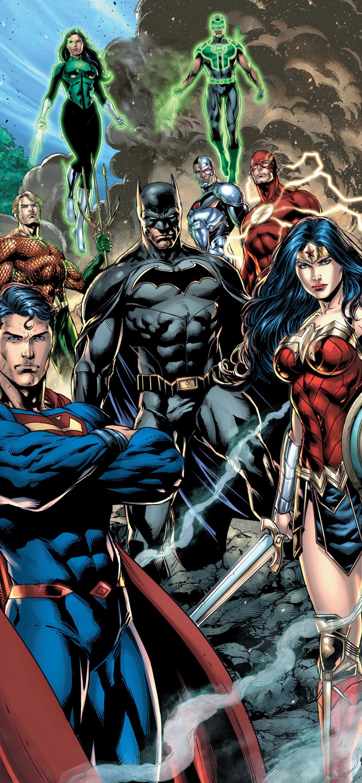 Justice League Dc Comic Art (Iphone XS MAX)