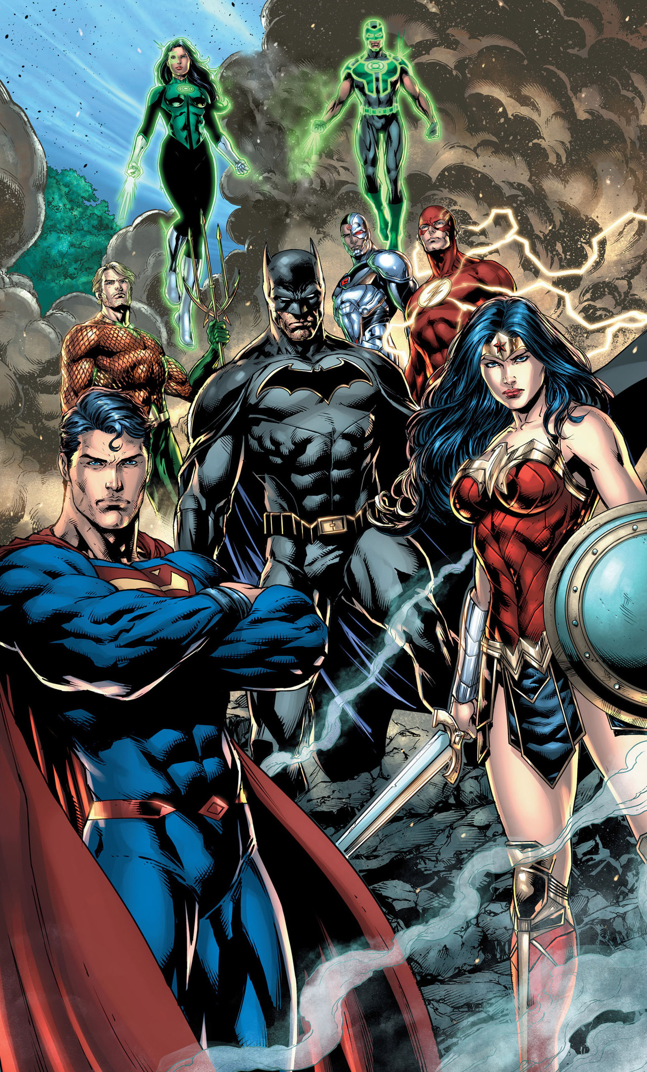 1280x2120 Justice League Dc Comic Art iPhone 6+ HD 4k ...