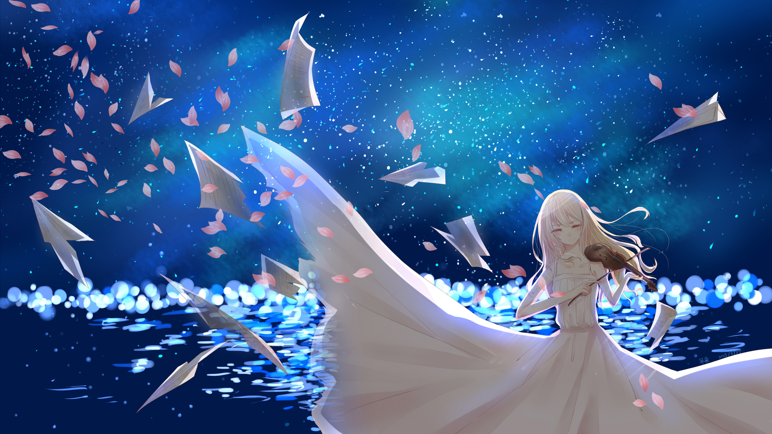 Your Lie In April Wallpaper Hd: 2560x1440 Kaori Miyazono Your Lie In April 5k 1440P