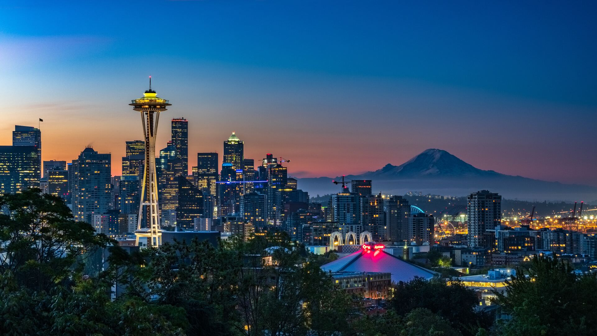 1920x1080 Kerry Park Seattle United States 5k Laptop Full Hd 1080p Hd 4k Wallpapers Images Backgrounds Photos And Pictures