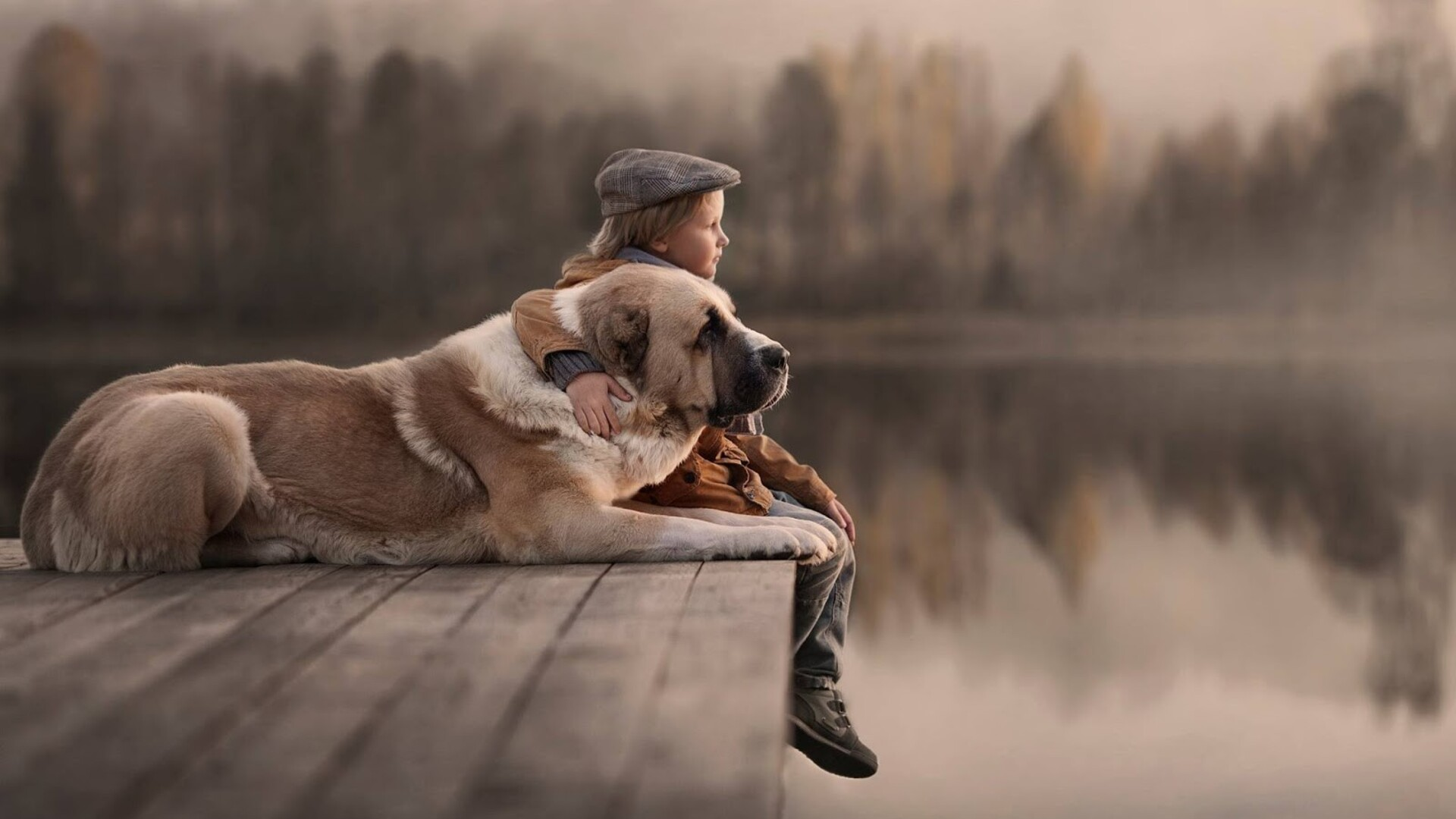 1920x1080 Kids And Dogs Laptop Full Hd 1080p Hd 4k Wallpapers Images Backgrounds Photos And Pictures