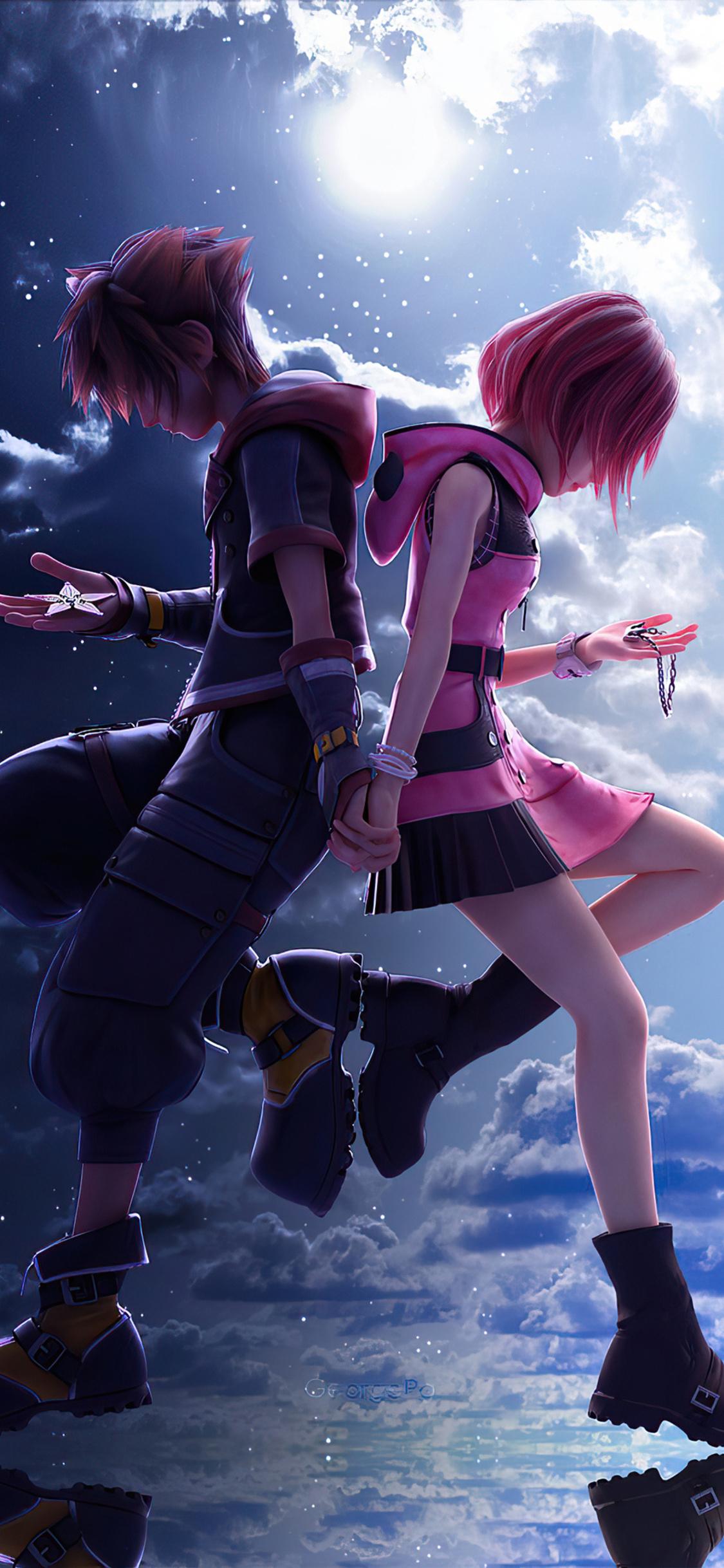 1125x2436 Kingdom Hearts 3 Sora And Kaira 4k Iphone XS ...
