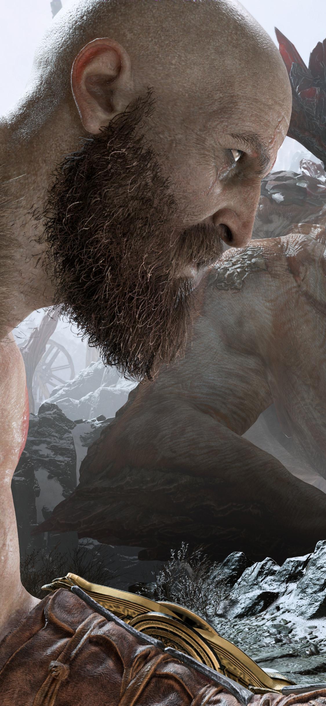 1125x2436 Kratos And Atreus God Of War 4 4k Iphone Xs Iphone