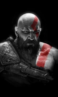 240x400 Kratos In God Of War 2018 Acer E100 Huawei Galaxy S