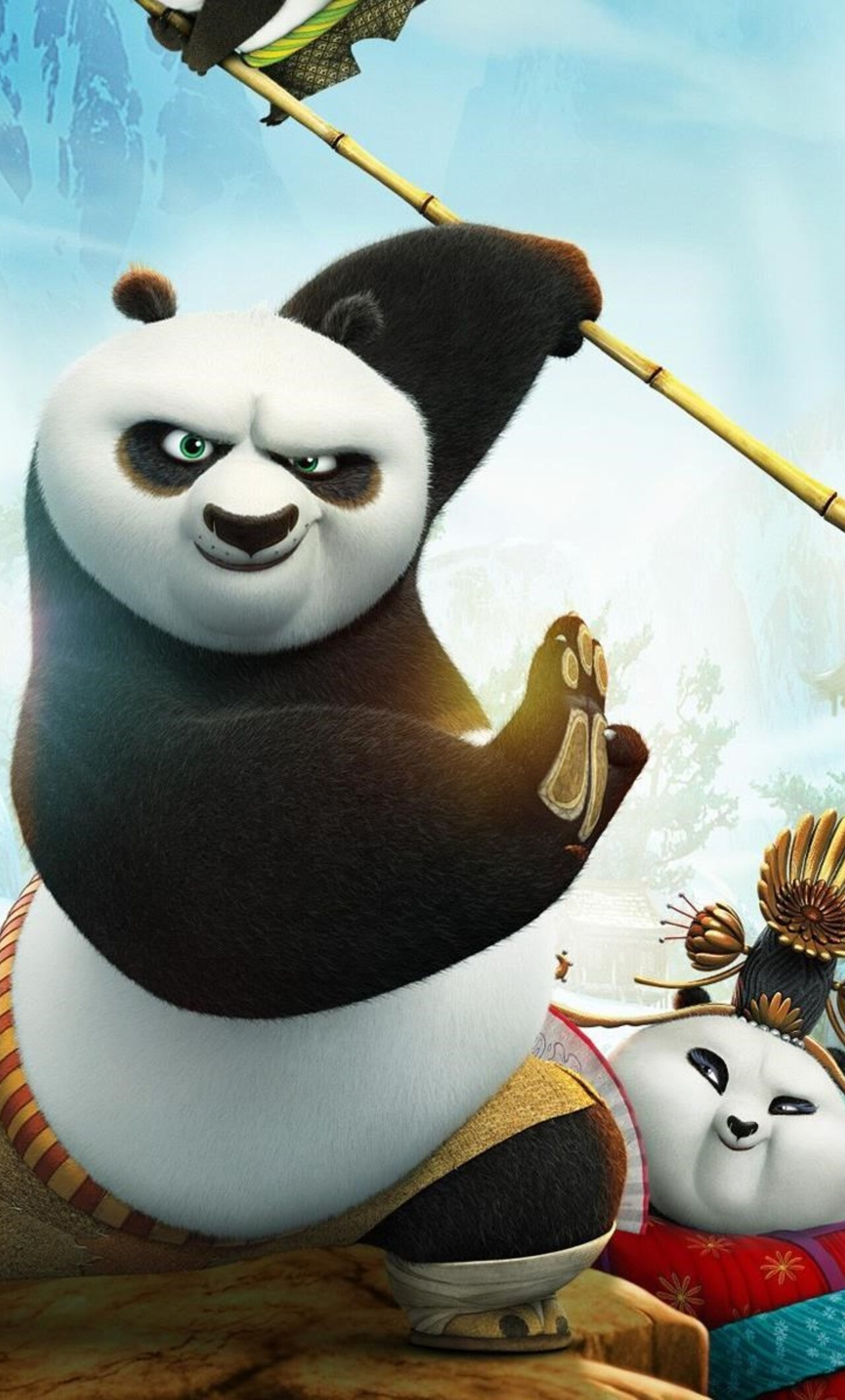 1280x2120 kung fu panda 3 movie iphone 6+ hd 4k wallpapers, images