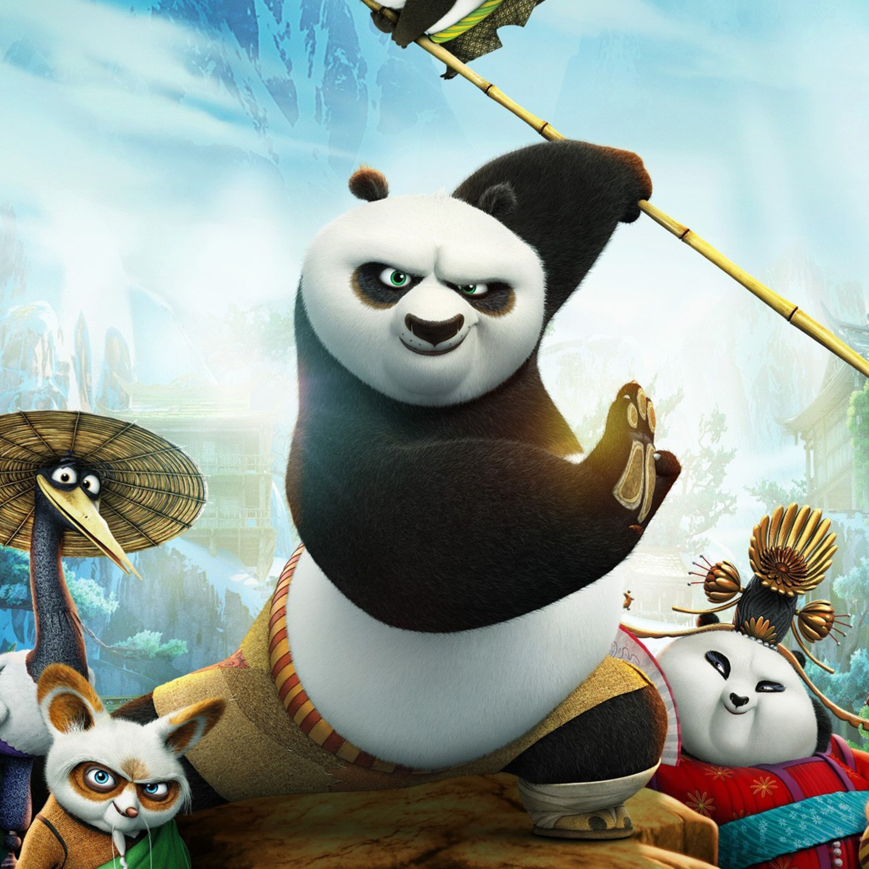 2932x2932 kung fu panda 3 movie ipad pro retina display hd 4k