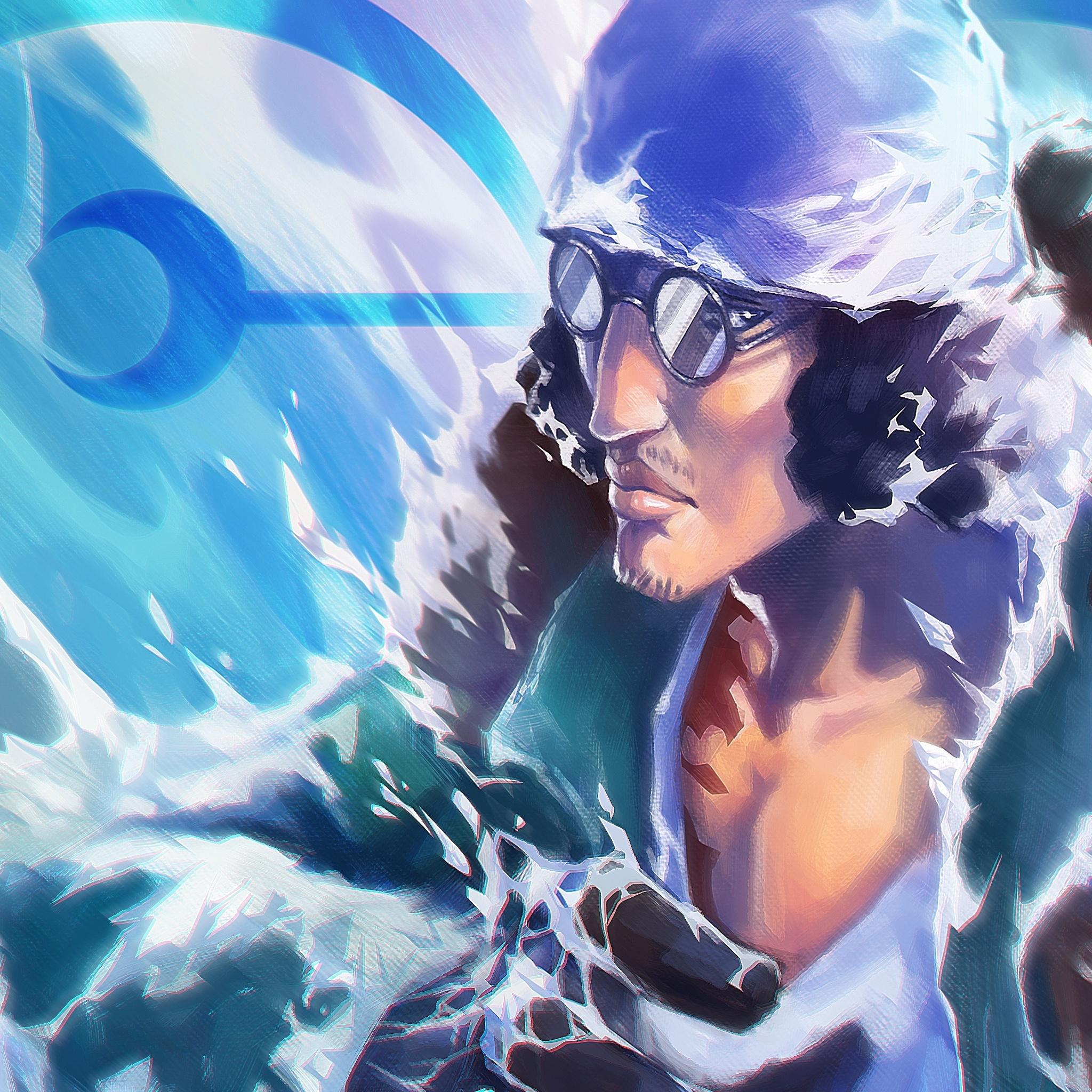 2048x2048 Kuzan One Piece Anime 4k Ipad Air HD 4k ...