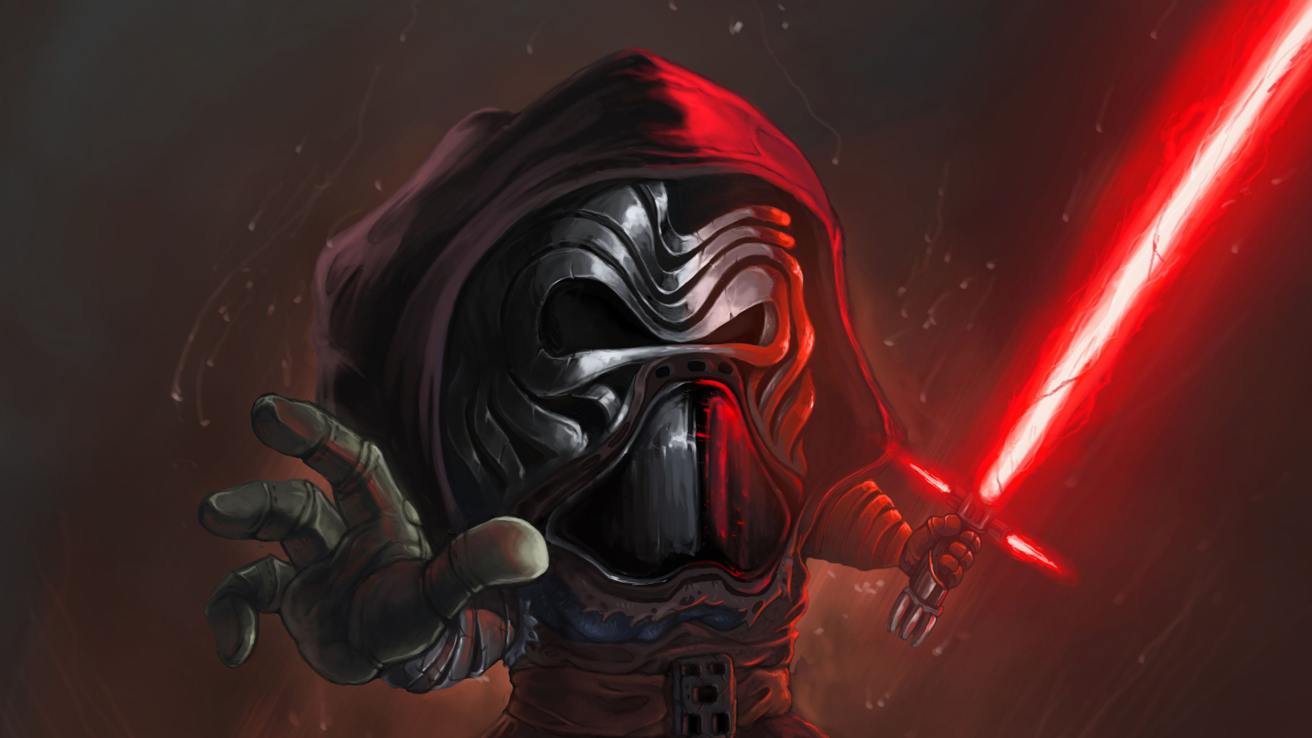 2560x1440 Kylo Ren Cartoon Art 1440P Resolution HD 4k ...