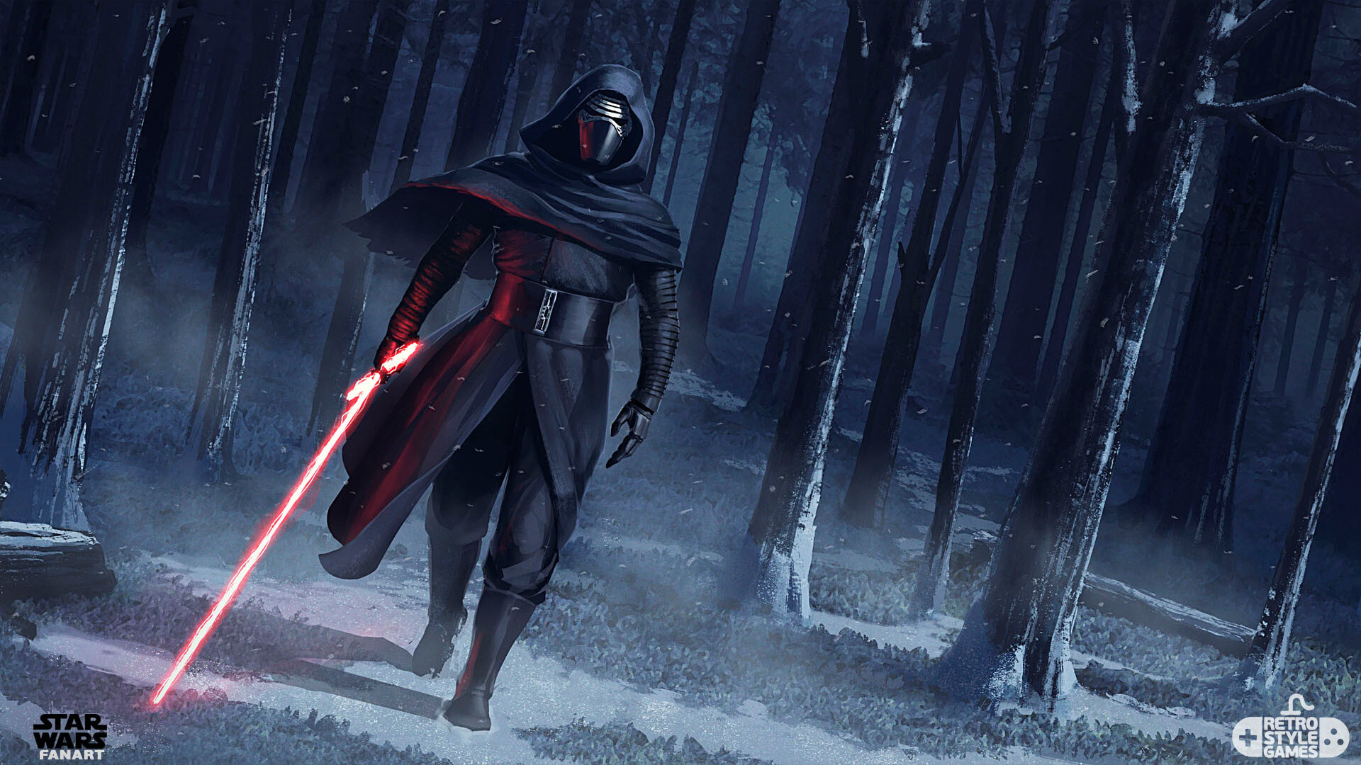 1920x1080 Kylo Ren Force Awakens Fan Art Laptop Full Hd 1080p Hd 4k Wallpapers Images Backgrounds Photos And Pictures