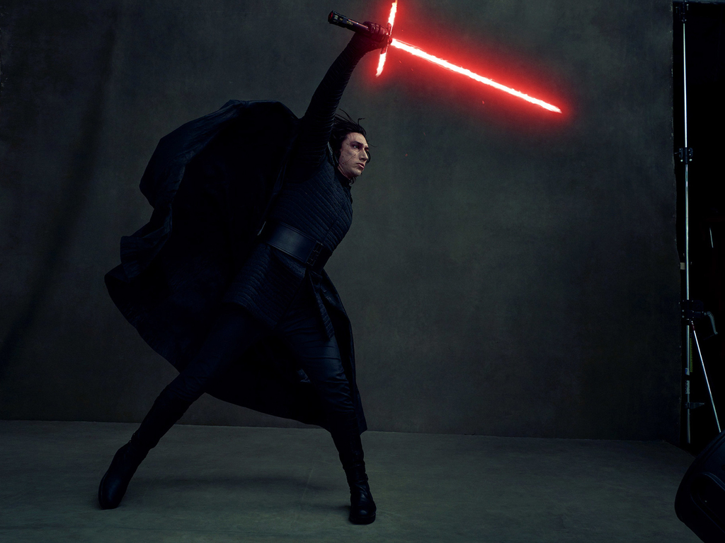 1024x768 Kylo Ren In Star Wars The Last Jedi 4k Vanity Fair