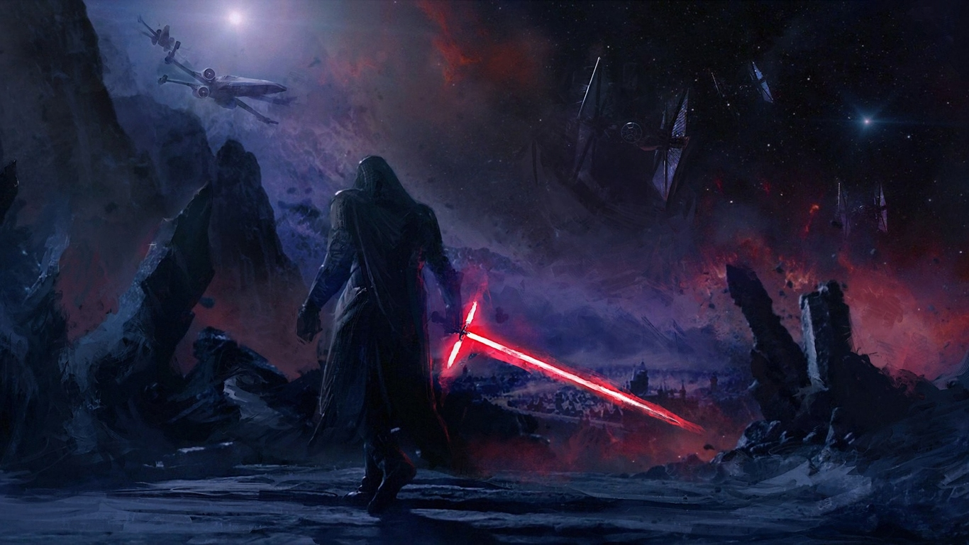 1366x368 Resolution Vs 1600x900: 1366x768 Kylo Ren Star Wars Art 1366x768 Resolution HD 4k
