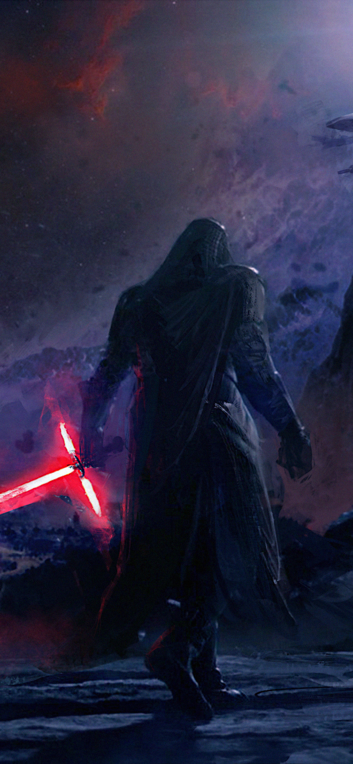 1125x2436 Kylo Ren Star Wars Artwork 4k Iphone Xs Iphone 10 Iphone X