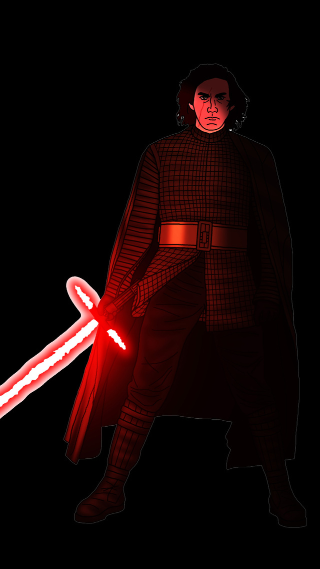 640x1136 Kylo Ren Star Wars Artwork 5k Iphone 5 5c 5s Se Ipod Touch Hd 4k Wallpapers Images Backgrounds Photos And Pictures