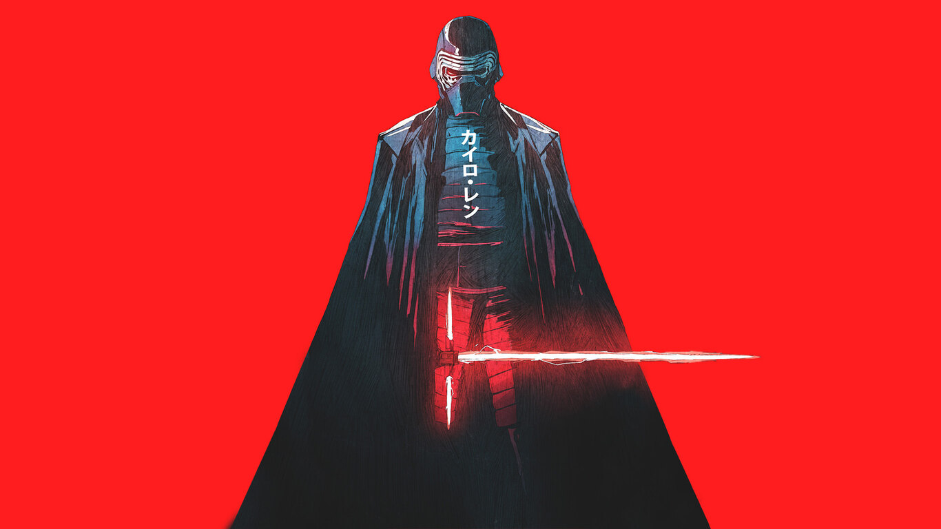 1366x768 kylo ren star wars artwork 1366x768 resolution hd 4k