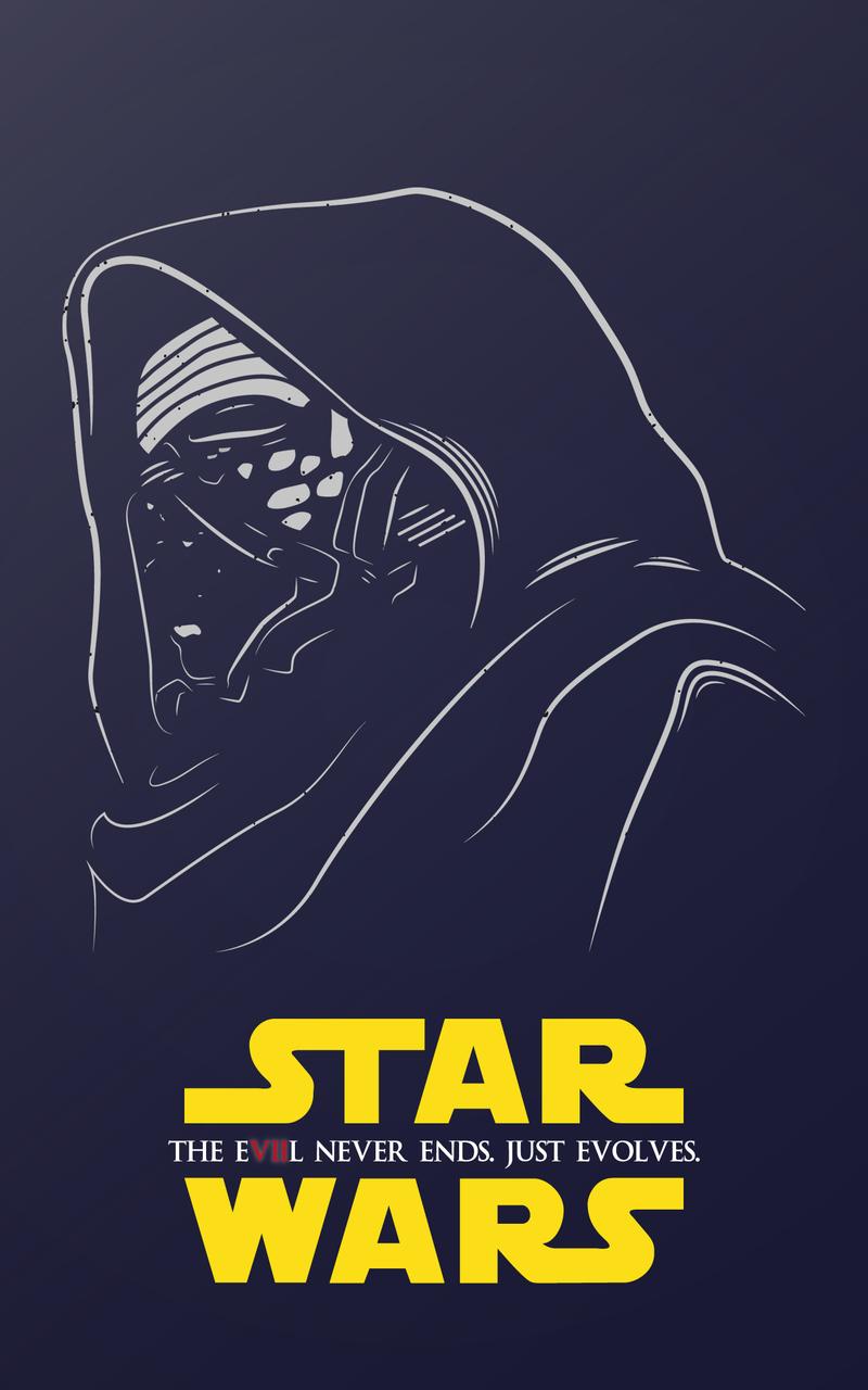 kylo ren star wars illustration wf