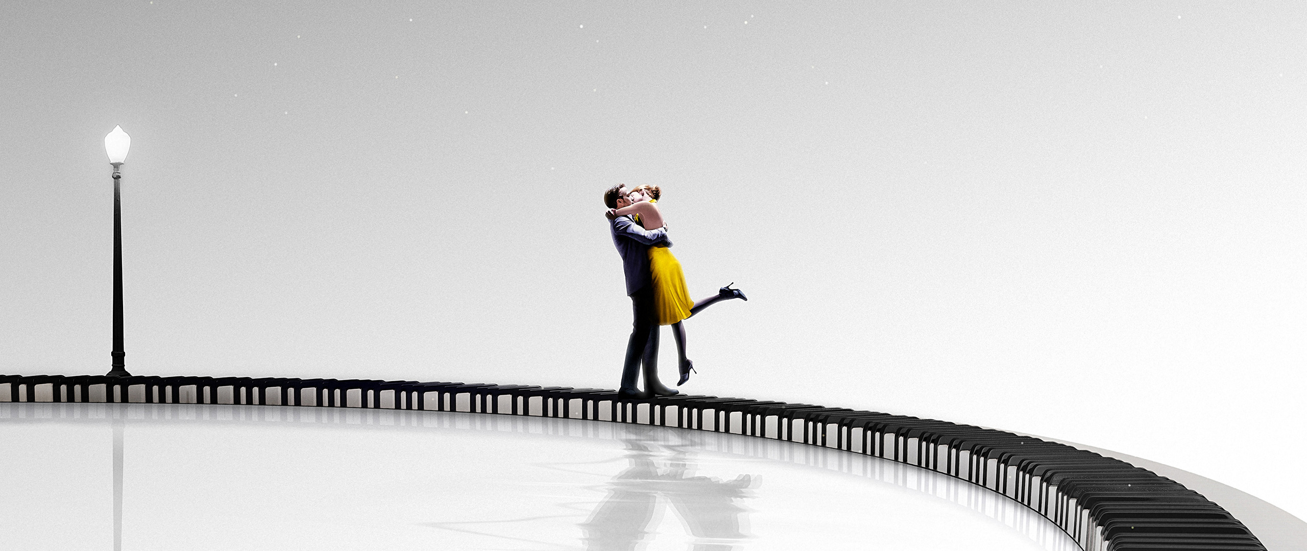2560x1080 La La Land Emma Stone And Ryan Gosling Poster 2560x1080