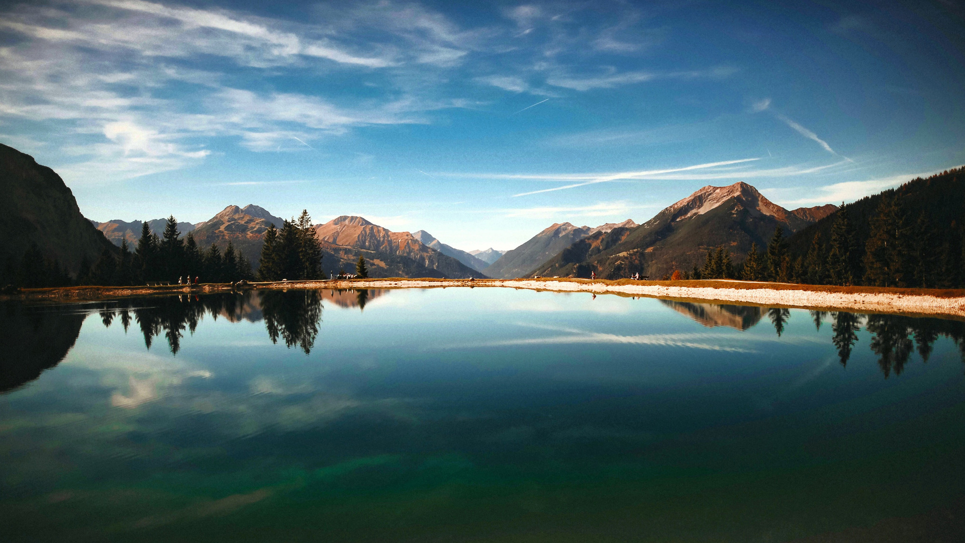 1920x1080 Lake Clouds Mountains Forest Landscape Scenic ...