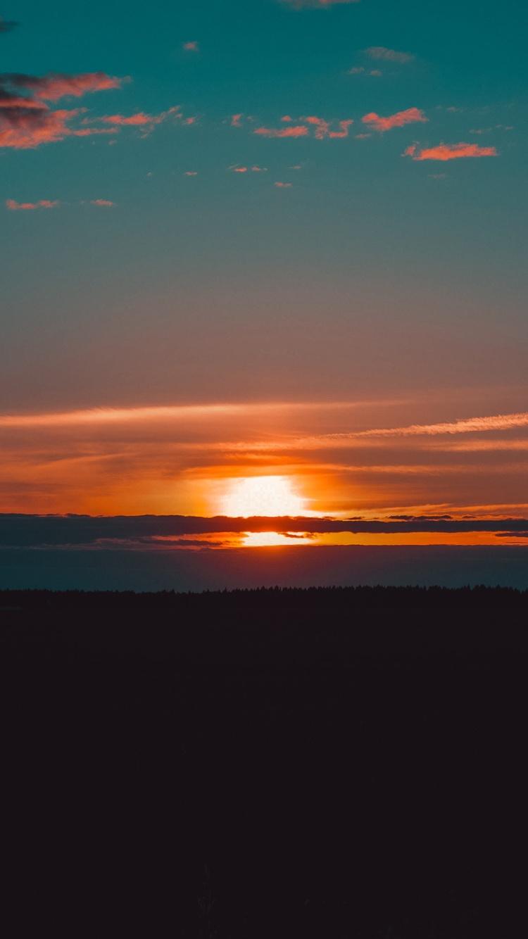 750x1334 Lake Golden Hour Beautiful Sunset 4k iPhone 6
