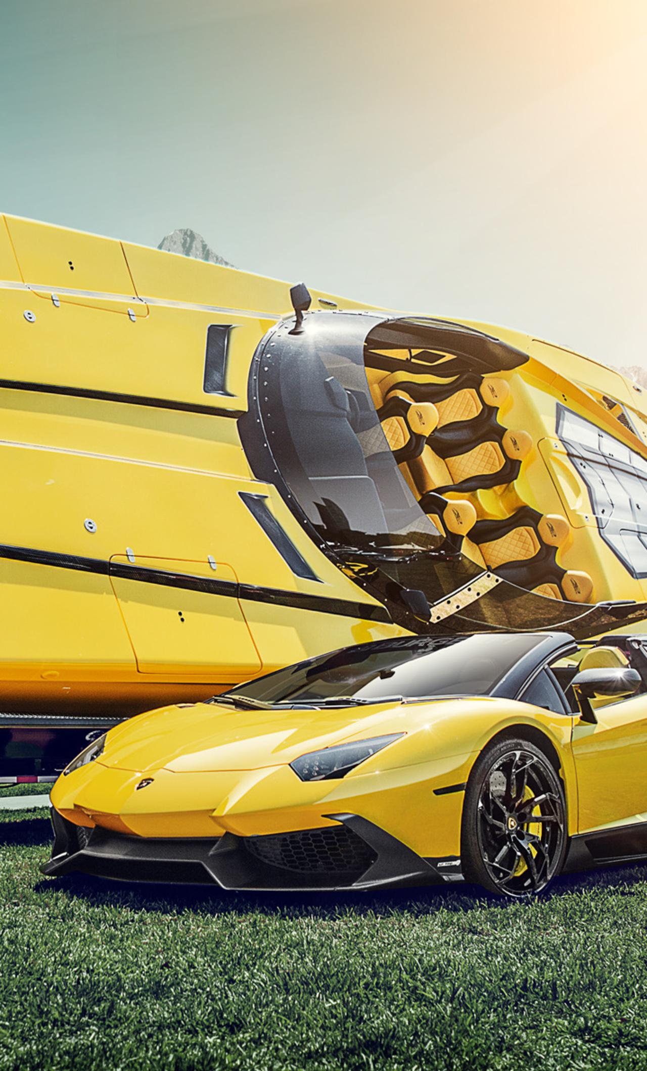 1280x2120 Lamborghini And Boat Iphone 6 Hd 4k Wallpapers Images