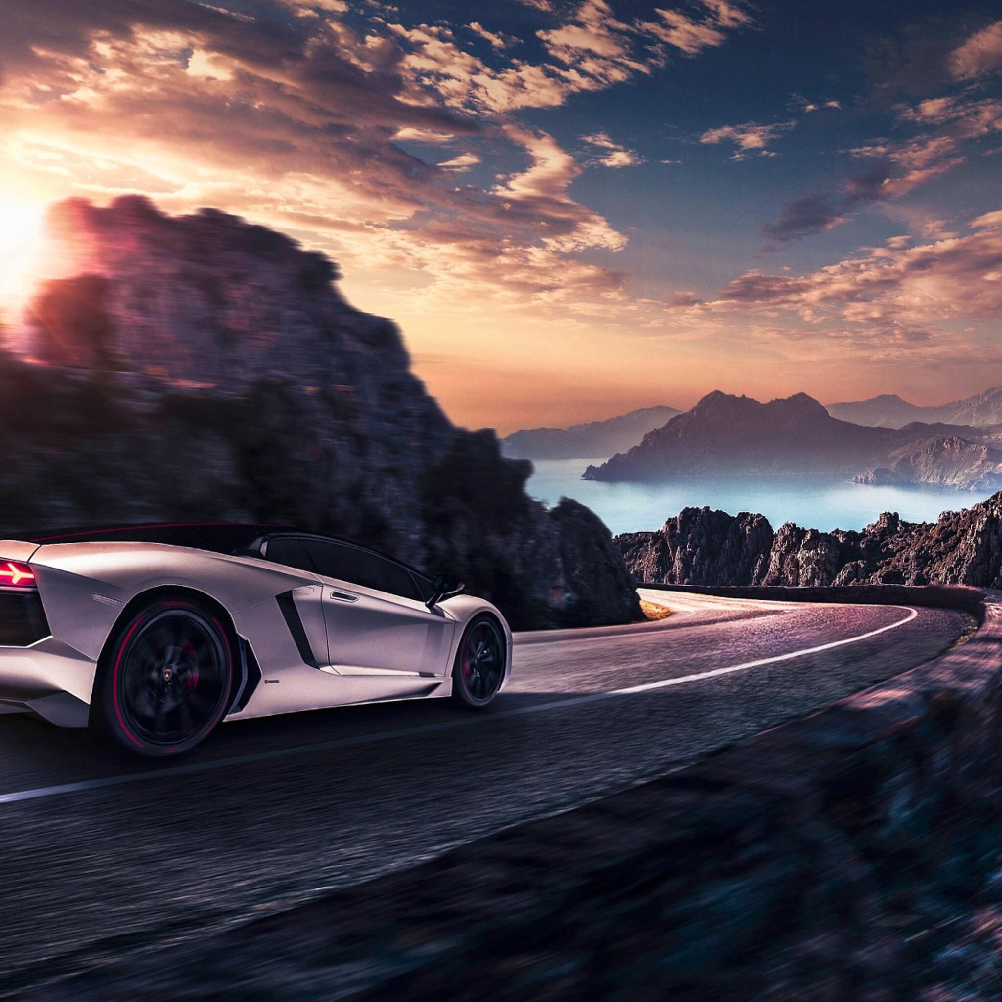 2048x2048 Lamborghini Artwork Ipad Air HD 4k Wallpapers
