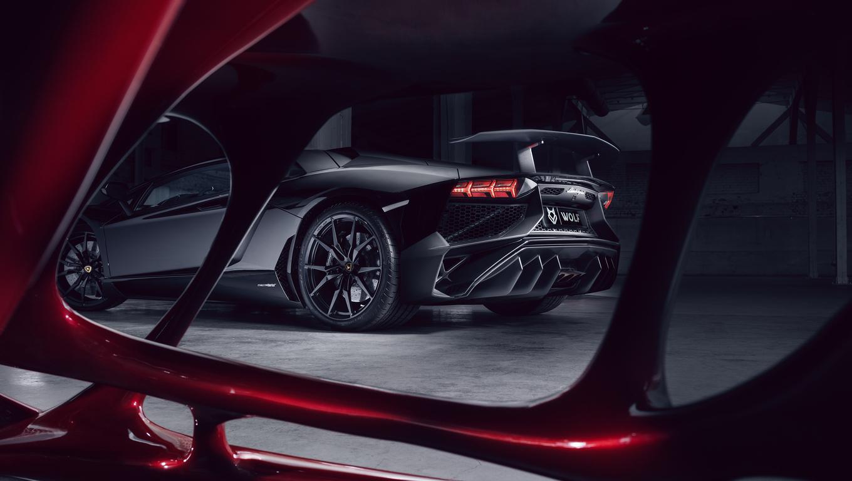 1360x768 Lamborghini Aventador Black Red Wolf 4k Laptop Hd