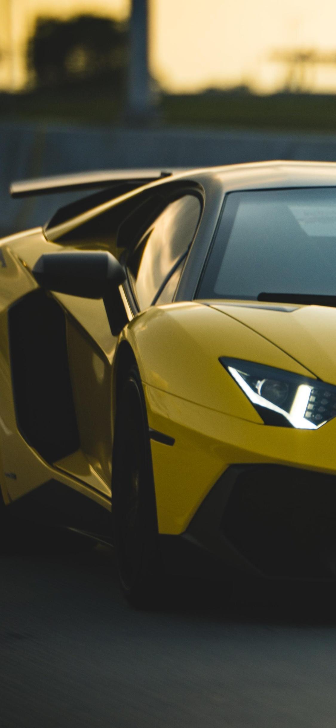 1125x2436 Lamborghini Aventador Sv 2018 Iphone Xs Iphone 10