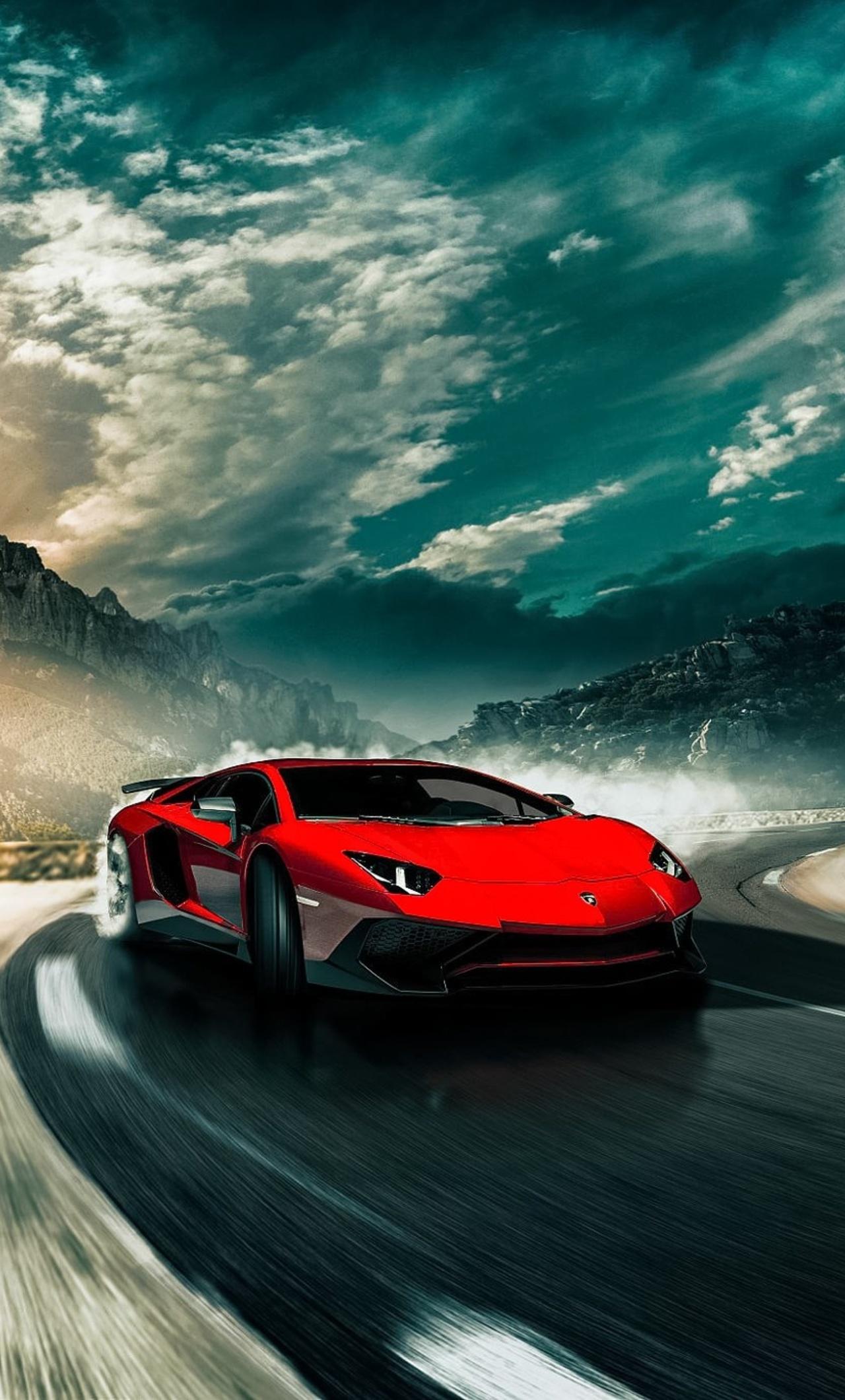 1280x2120 Lamborghini Aventador SV Drifting iPhone 6+ HD ...