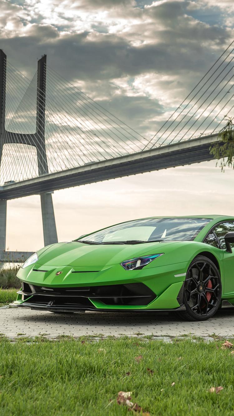 750x1334 Lamborghini Aventador Svj 2019 Front Iphone 6 Iphone 6s