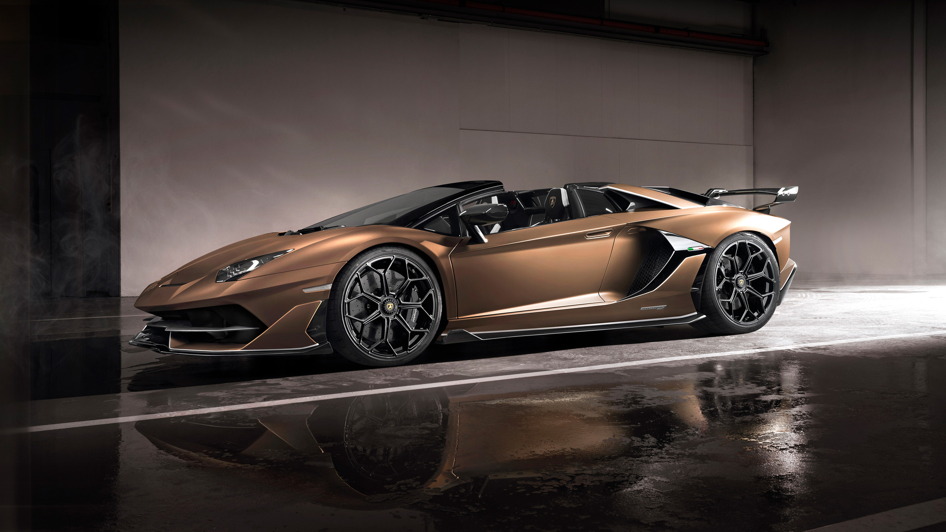 1920x1080 Lamborghini Aventador Svj Roadster 2019 Side View Laptop