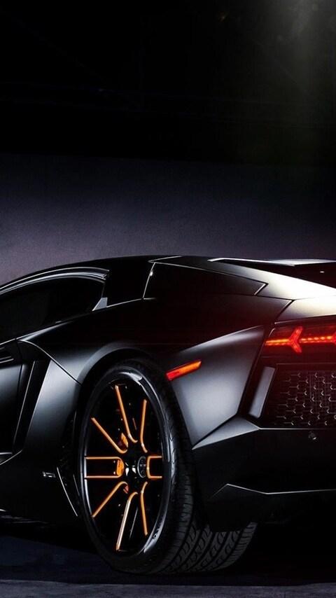480x854 Lamborghini Black Android One HD 4k Wallpapers