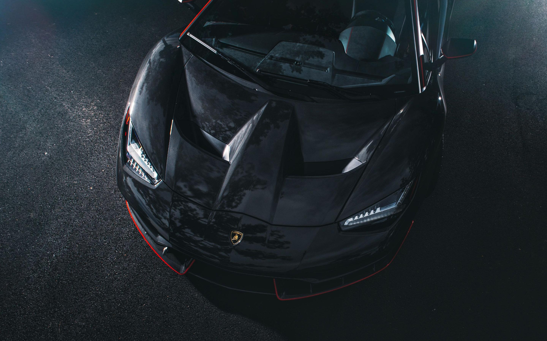 2880x1800 Lamborghini Centenario Coupe Front Black Carbon Macbook