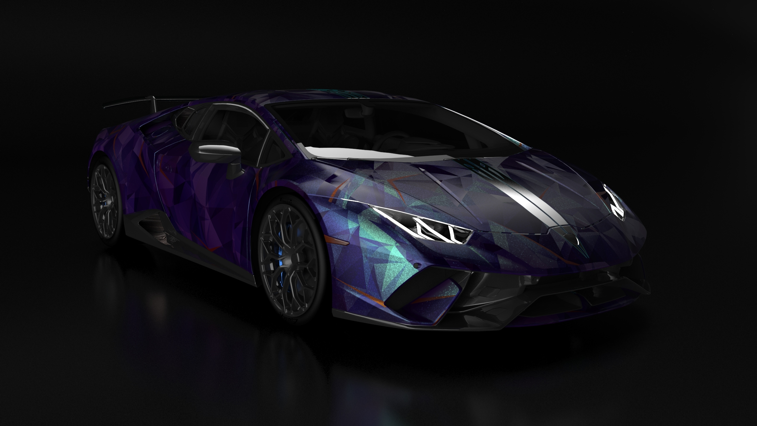 2560x1440 Lamborghini Huracan Blue And Black 1440p