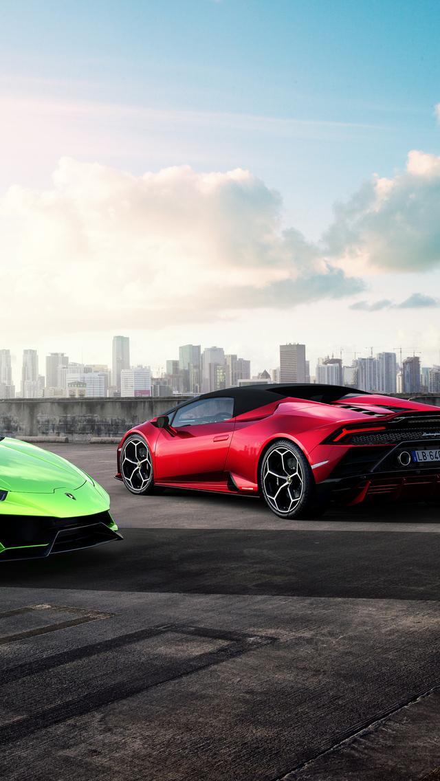640x1136 Lamborghini Huracan Evo Spyder 2019 5k Iphone 55c