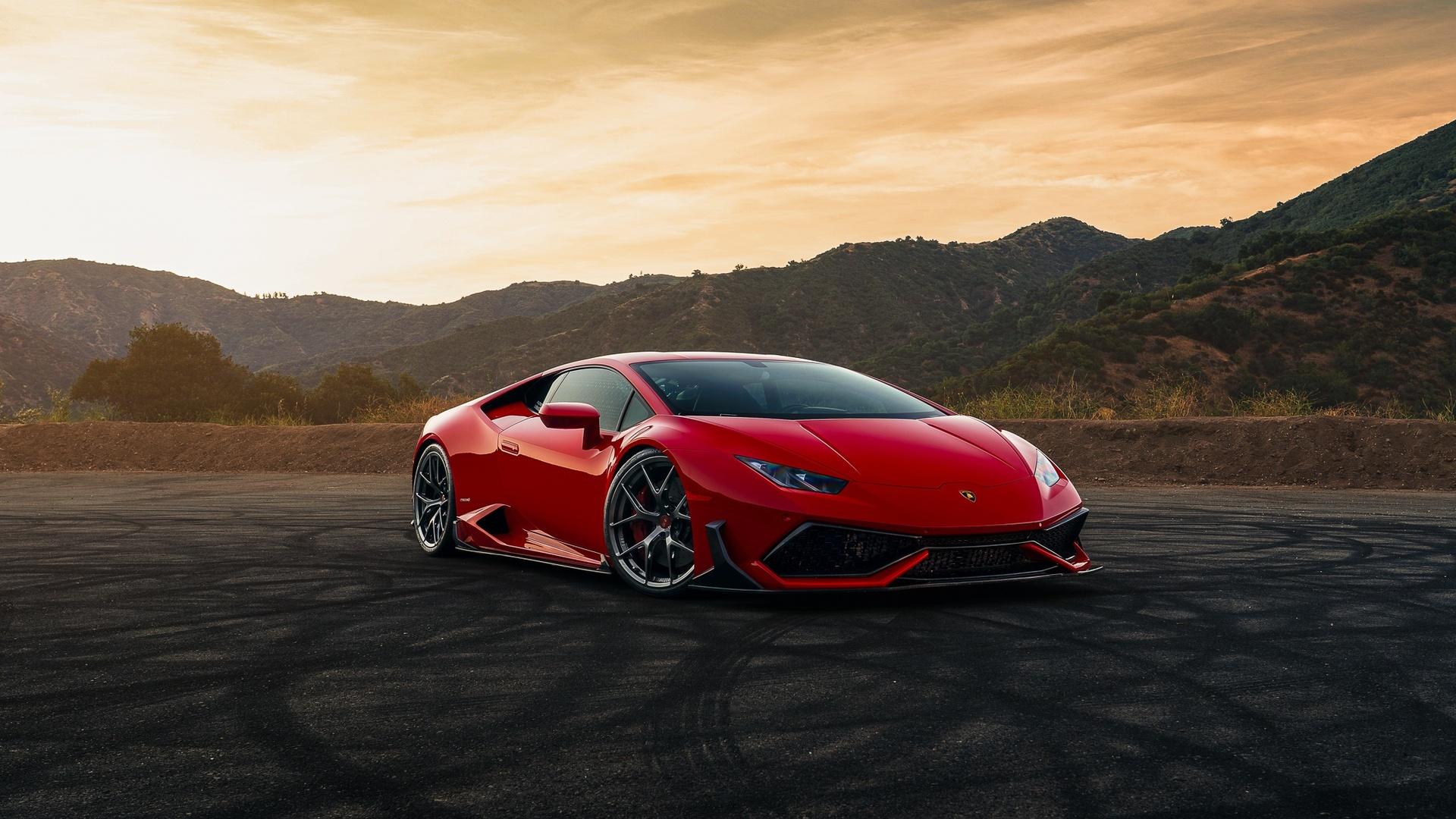 1920x1080 Lamborghini Huracan Red Car Laptop Full Hd 1080p