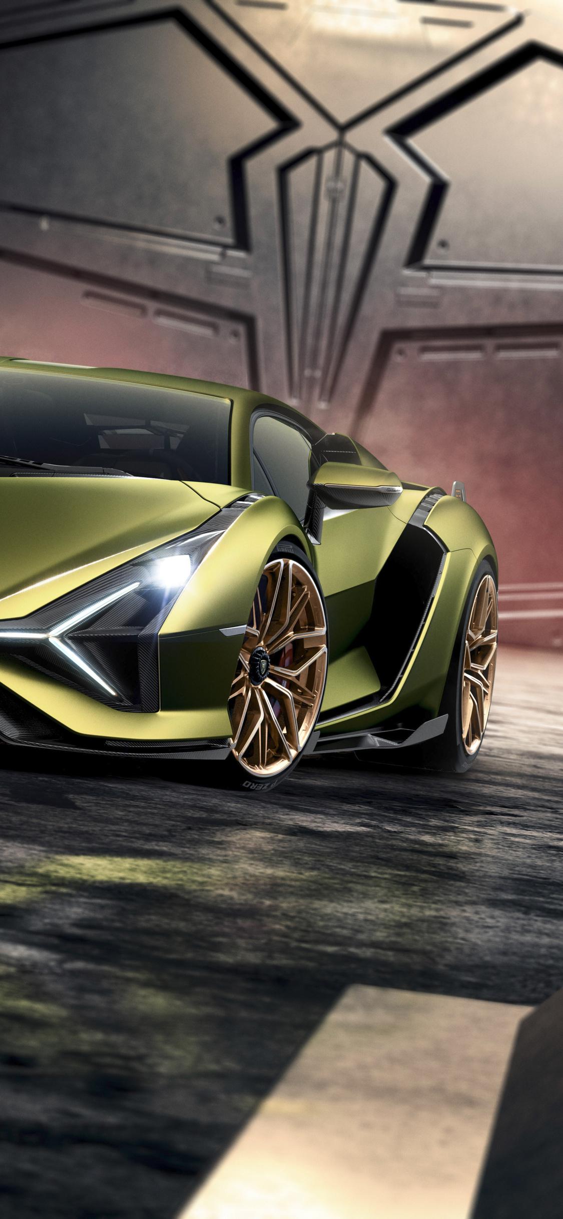 1125x2436 Lamborghini Sian 2019 Iphone XS,Iphone 10,Iphone X