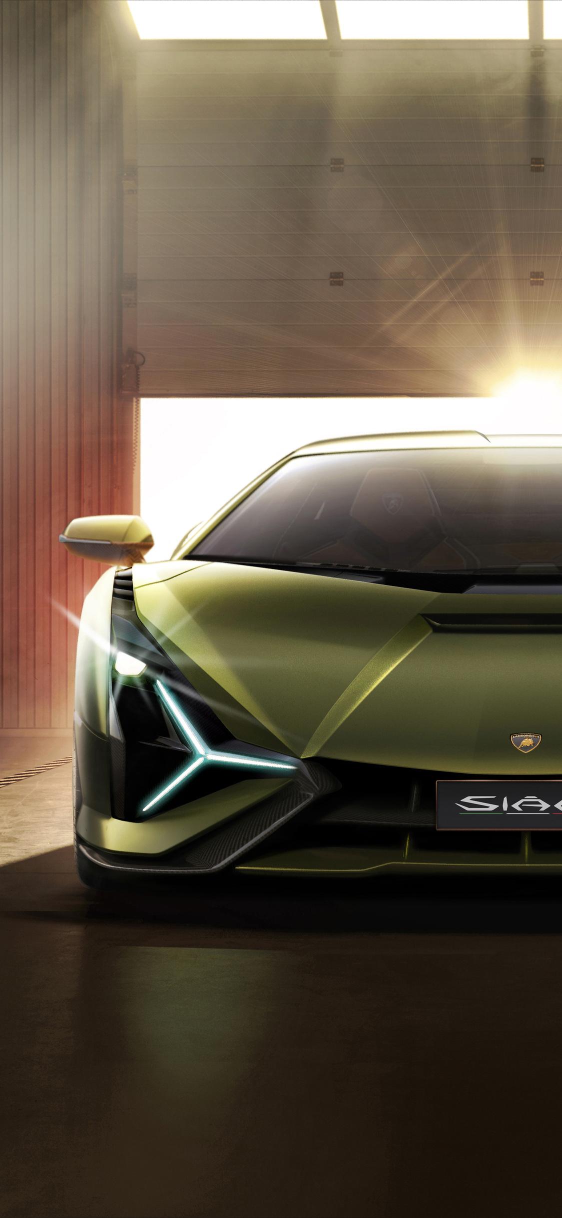 1125x2436 Lamborghini Sian 2019 8k Iphone XS,Iphone 10