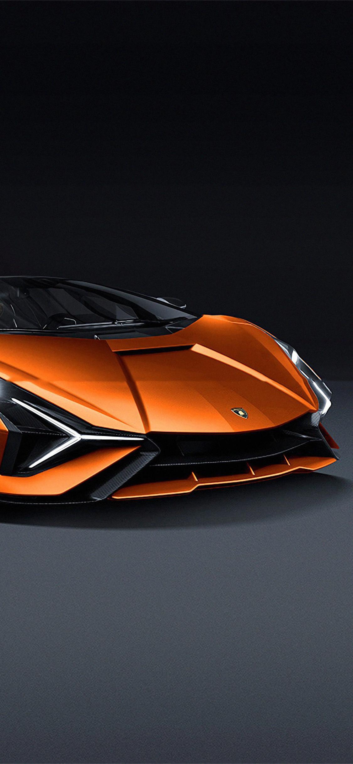 1125x2436 Lamborghini Sian 2019 Front View 4k Iphone Xs
