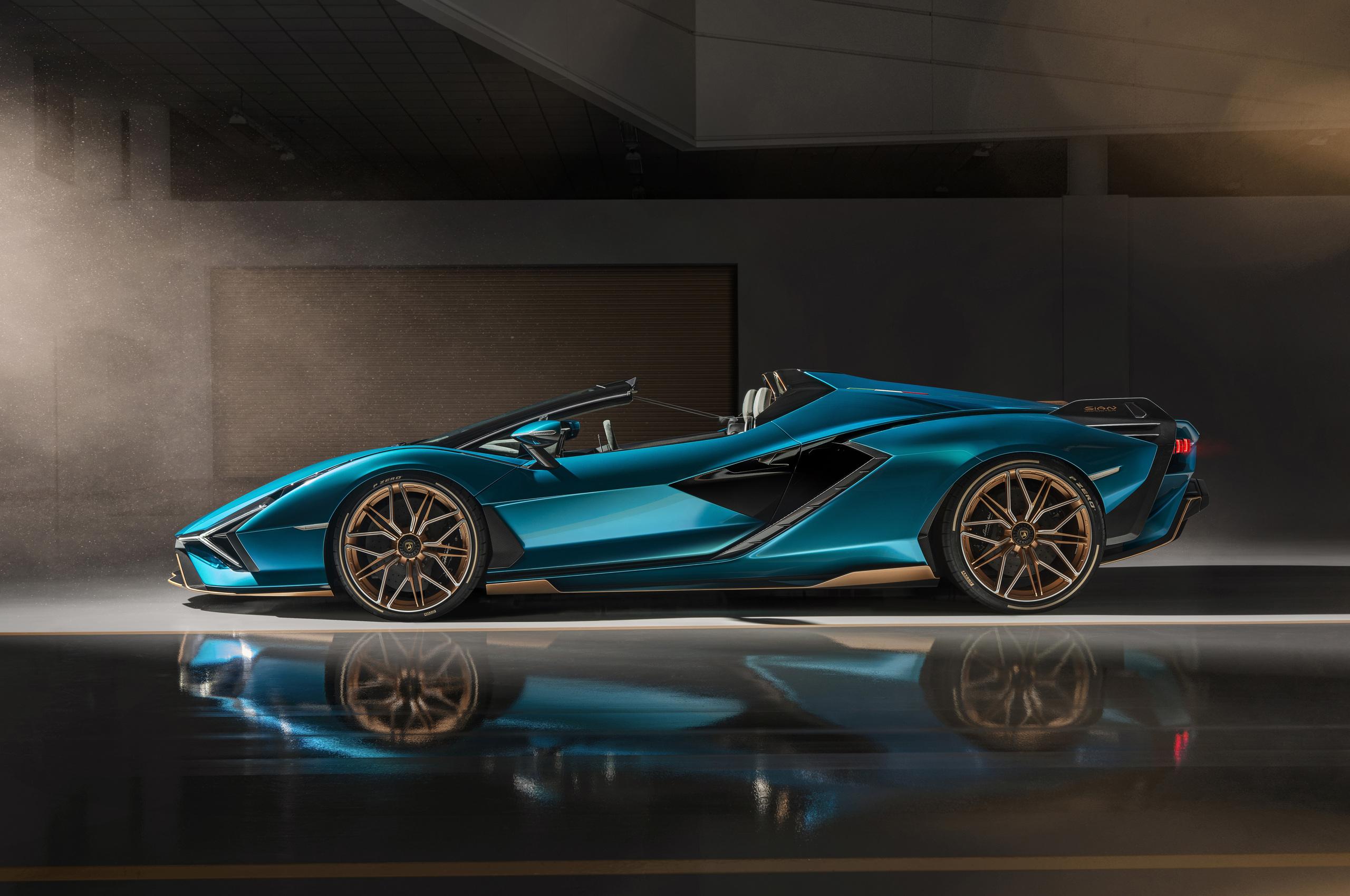 2560x1700 Lamborghini Sian Roadster 2020 Side View 8k ...