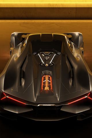 320x480 Lamborghini Terzo Millennio Rear 2020 Apple Iphone ...